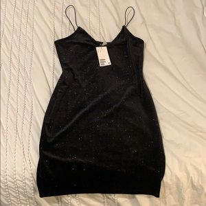 Black Sparkly Going Out Dress